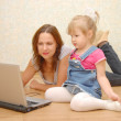 Mother and Daughter Using Laptop — Stock Photo #2606353