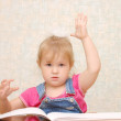 Royalty-Free Stock Photo: Small cute  girl with hand up
