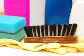 Close up of hygiene cleaners for housework — Stock Photo