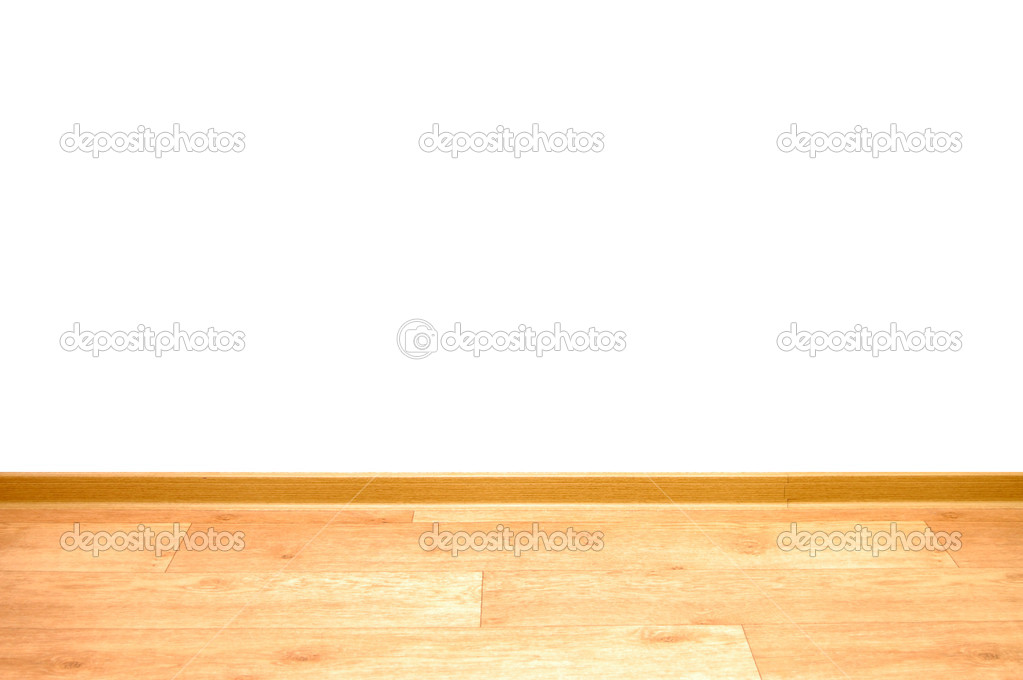 Wall of room to add text with a wooden floor — Stock Photo #2606209