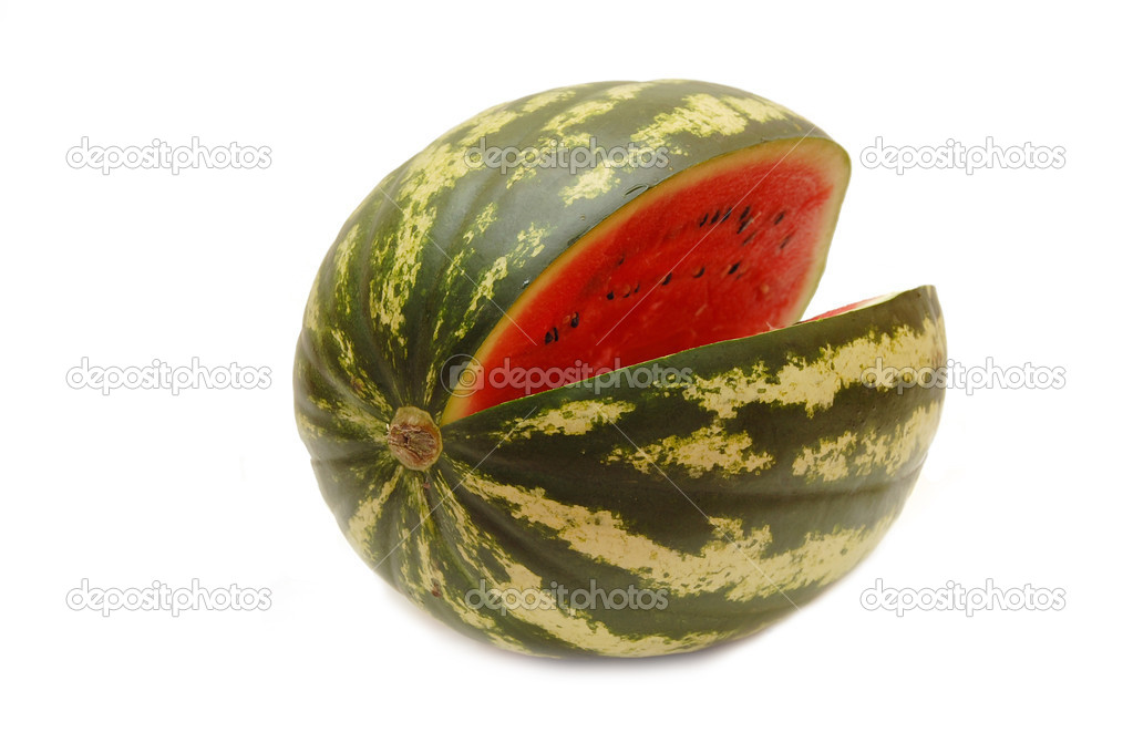 Water melon isolated on white background  Stock Photo #2609355