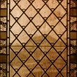 Stock Photo: Vintage stained-glass window - old background