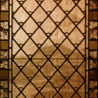 Vintage stained-glass window - old background — Stock Photo