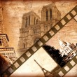 Memories about Paris - vintage style - Stock Photo