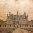 Castle of Chambord, France - picture in retro st - Stock Photo