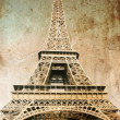 Stock Photo: Eiffel tower - picture in retro style