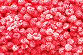Closeup photo of frozen raspberries — Stok fotoğraf