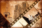 Memories about Paris - vintage style — Stock Photo