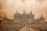 Castle of Chambord, France - picture in retro st — Foto de Stock