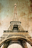 Eiffel tower - picture in retro style — Stock Photo