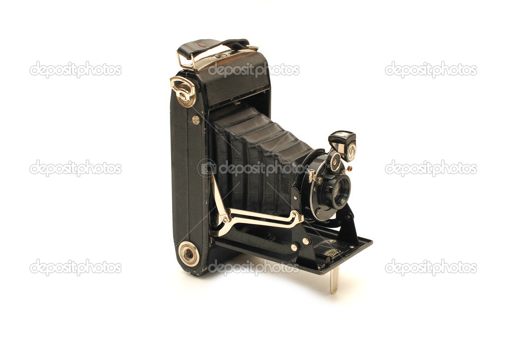 Medium format retro camera isolated on white — Stock Photo #2611059