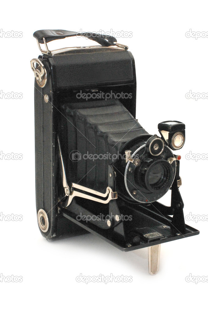 Medium format retro camera isolated on white — Stock Photo #2611070