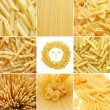 Royalty-Free Stock Photo: Different kinds of italian pasta. Food collage