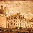 Chenonceau castle in France - vintage style — Photo #2624714