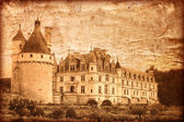 Chenonceau castle in France - vintage style — Stock Photo