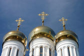 Orthodox Church with Golden Domes in Pereslavl — Stock Photo