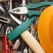 Hammer and different tools — Stock Photo