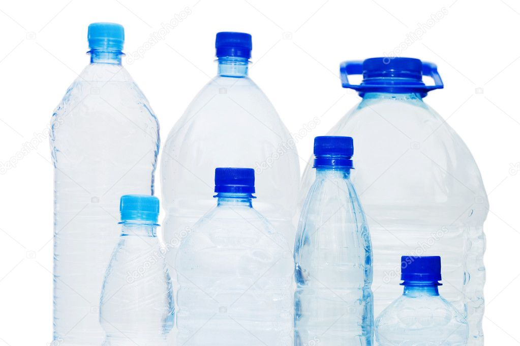 Water bottles isolated on the white background — Stock Photo #2673216