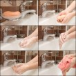 Woman washing hand under running - Stock Photo
