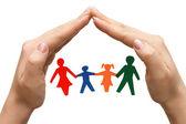 Dans la maison de famille fait des mains — Photo