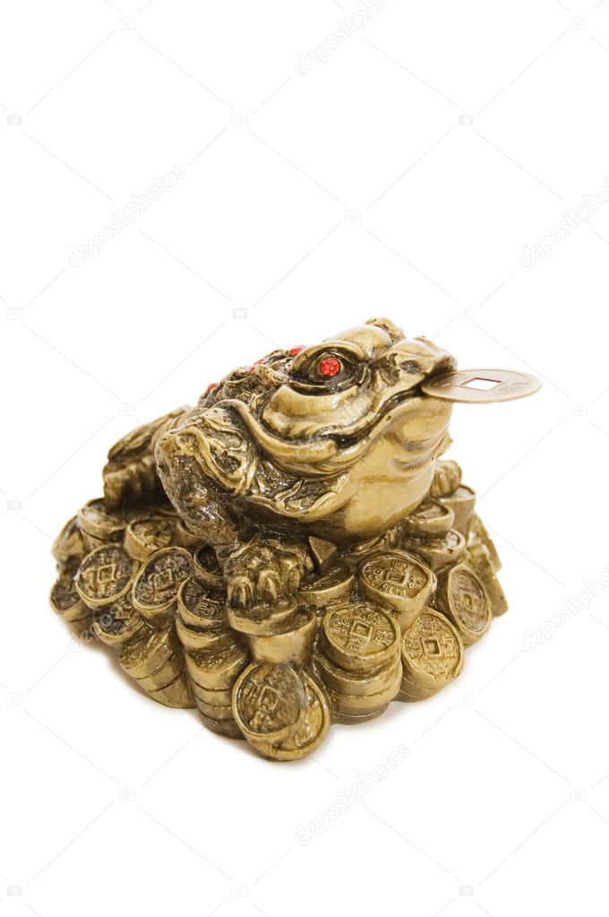 depositphotos 2691922 Chinese Feng Shui Frog with coins Bagua Feng Shui Como Usar