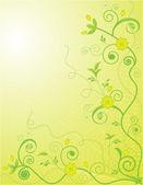Sierlijke floral achtergrond — Stockvector