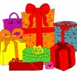 Colorful gift boxes — Image vectorielle