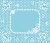 Pizzo inverno — Vettoriale Stock