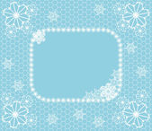 Winter lace — Stock Vector