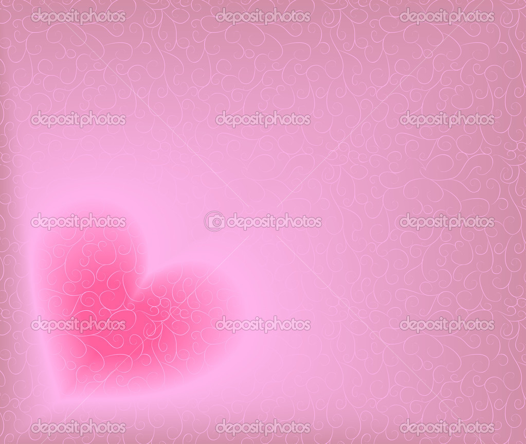 Ornate background with heart. Blend, no gradient mesh. — Imagen vectorial #1482097