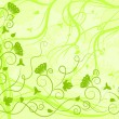 Ornate green background — Imagen vectorial