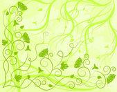 Fond vert orné — Vecteur