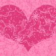 Ornate Valentine card - Image vectorielle