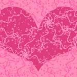 tarjeta de San Valentín Recargado — Vector de stock