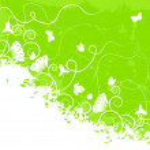 Ornate green background — Stock Vector
