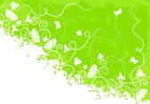 Utsmyckade grön bakgrund — Stockvektor