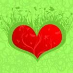 Flourishing heart — Stock Vector
