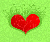 Flourishing heart — Stockvector