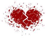 Corazón roto — Vector de stock