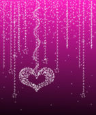 Sterrenhemel valentine — Stockvector