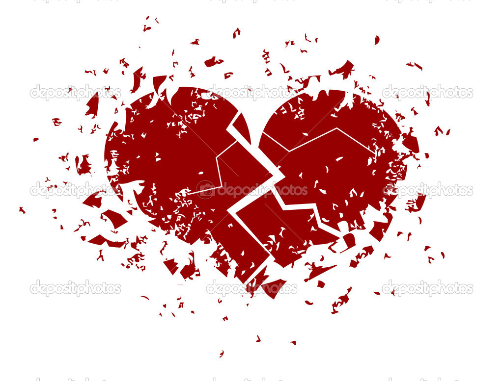 Illustration of a heart broken into pieces — Stock Vector #1798630