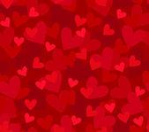 Sömlös bakgrund med hjärtan — Stockvektor