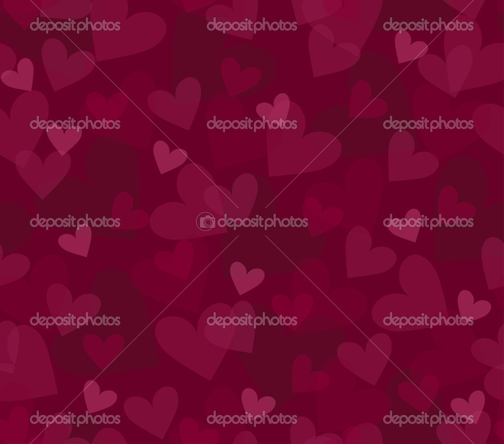 Seamless background with randomly placed hearts — Stock Vector #1846408
