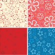 Royalty-Free Stock Vector: Set of the beauty textures.Vector.