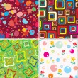 Royalty-Free Stock Vector Image: Set baby textures.