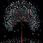 Tree autumn , abstract. . — Stock Vector