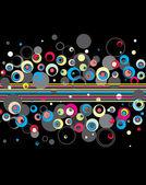 şık daireler background.vector. — Stok Vektör