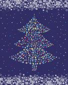 Weihnachts-Postkarte. Vektor. — Stockvektor