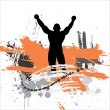Silhouette of the champion. — Stock Vector