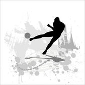 Silhouette of the soccer player — Stock Vector
